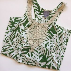 EUC Anthropologie VanessaVirginia Long Printed Top
